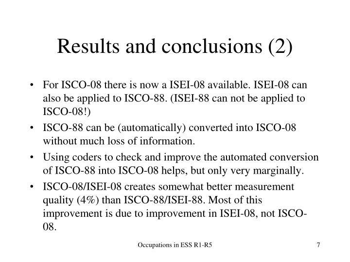 Results and conclusions (2)