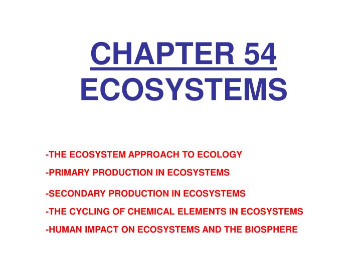 chapter 54 ecosystems n.