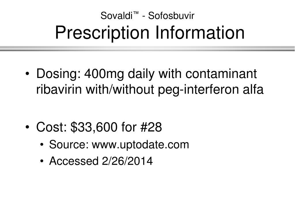 PPT - Sovaldi ™ - Sofosbuvir PowerPoint Presentation - ID