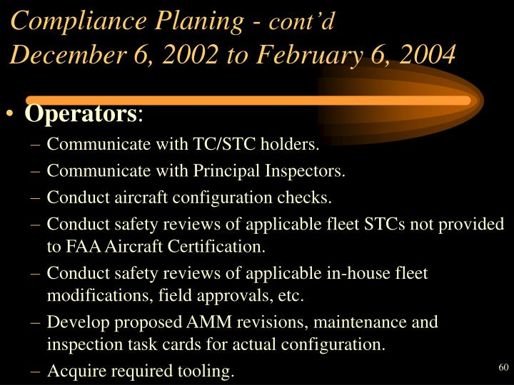 Compliance Planing -