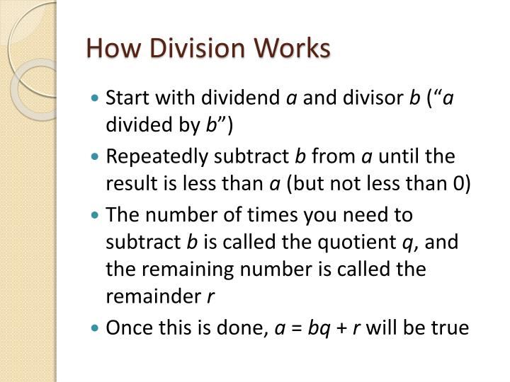 How Division Works