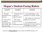 megan s student facing rubric