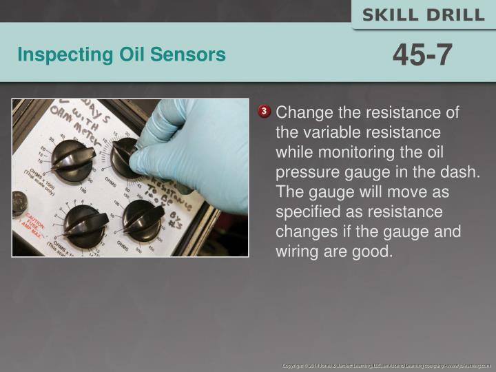Inspecting Oil Sensors