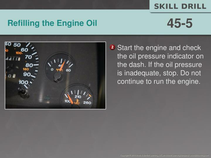 Refilling the Engine Oil