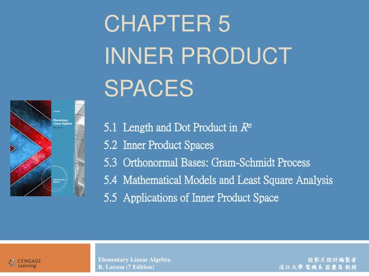 chapter 5 inner product spaces n.