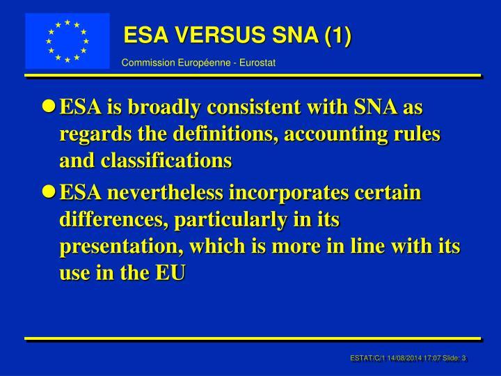 Esa versus sna 1