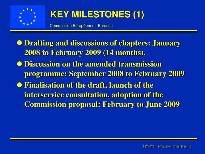KEY MILESTONES (1)