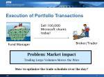 execution of portfolio transactions