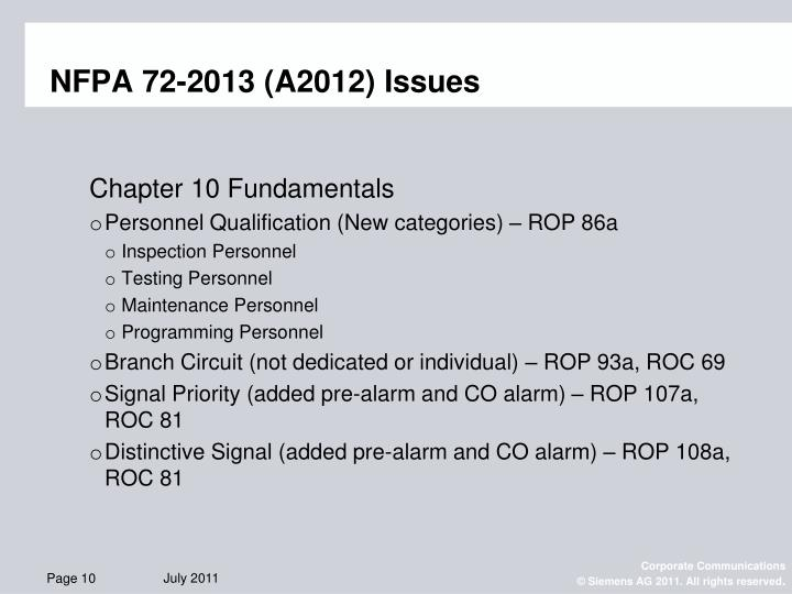 Ppt Nfpa 72 2013 Prelim Roc Level Powerpoint Presentation Id 3226716
