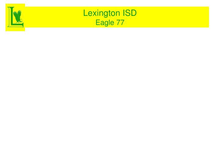 Lexington isd eagle 771