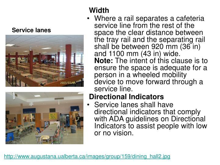 Service lanes