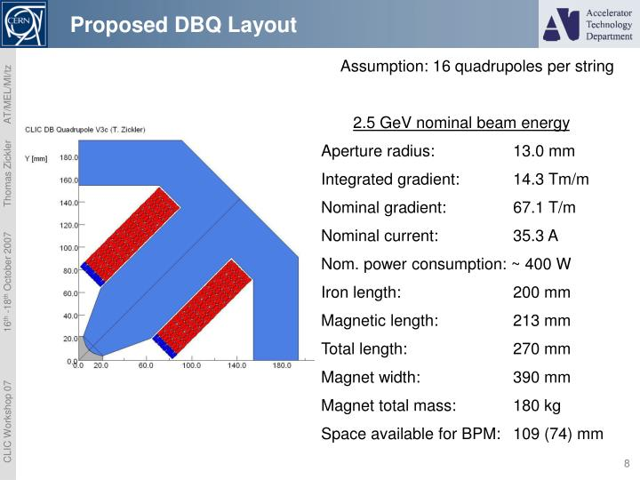 Proposed DBQ Layout