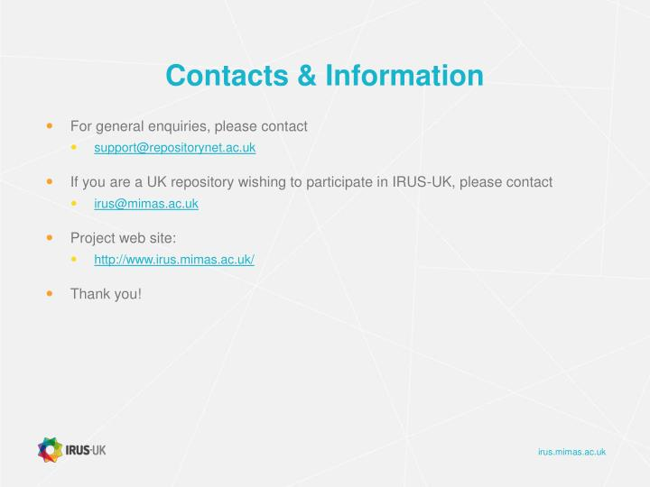 Contacts & Information