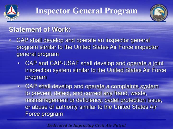 Inspector General Program