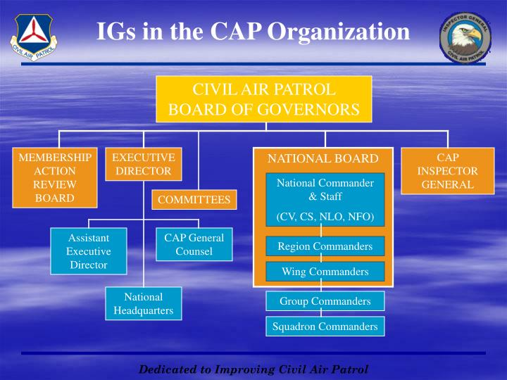 IGs in the CAP Organization
