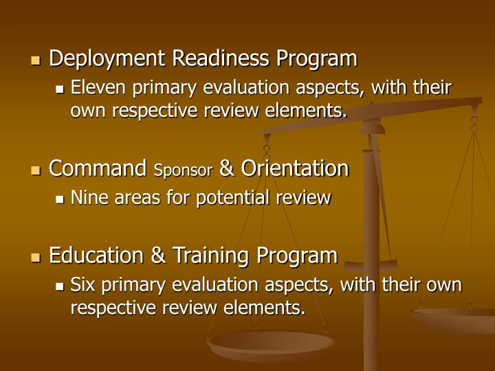 deployment readiness program
