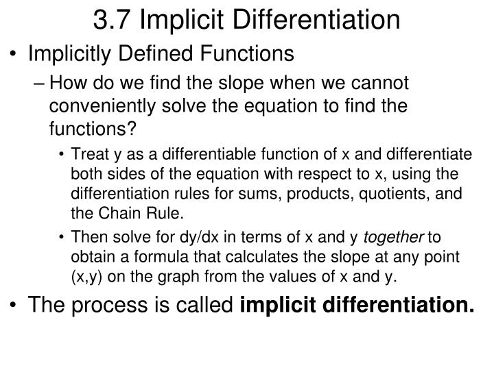 3 7 implicit differentiation n.