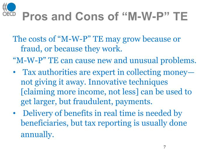 """Pros and Cons of """"M-W-P"""" TE"""