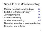schedule as of moscow meeting