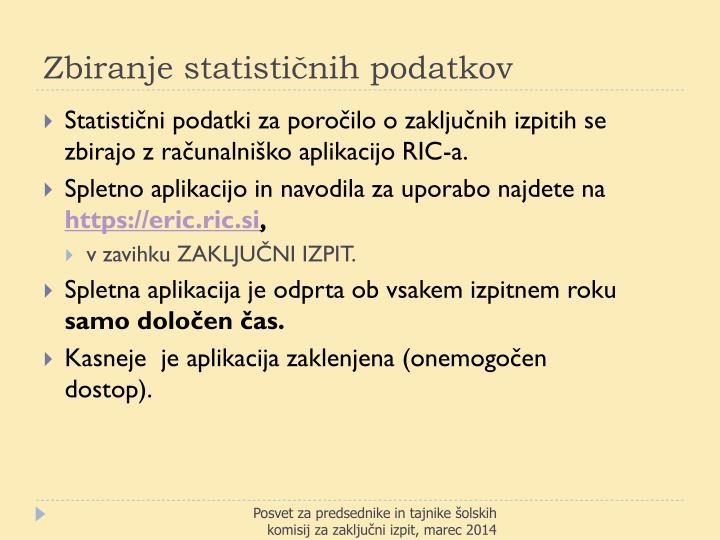 Zbiranje statističnih podatkov