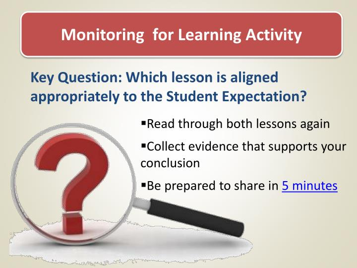 Monitoring  for Learning Activity