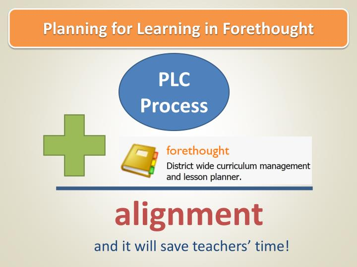 Planning for Learning in Forethought