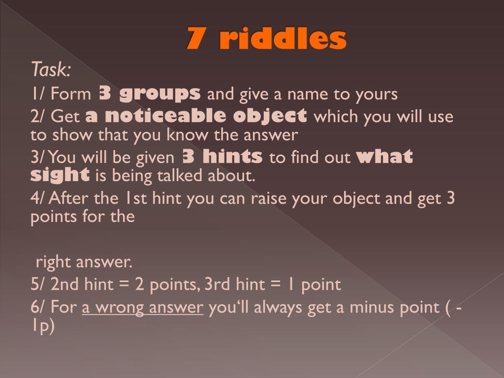 PPT - London: Riddles PowerPoint Presentation - ID:3227738