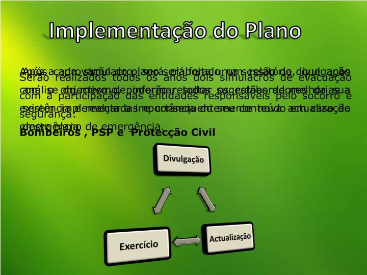 Implementação do Plano