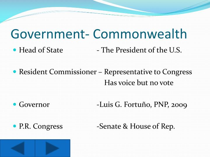 Government- Commonwealth