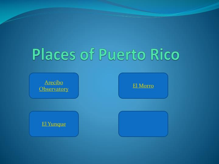 Places of Puerto Rico