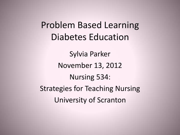 problem based learning diabetes education n.