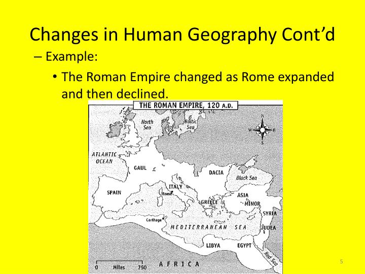 Changes in Human Geography Cont'd
