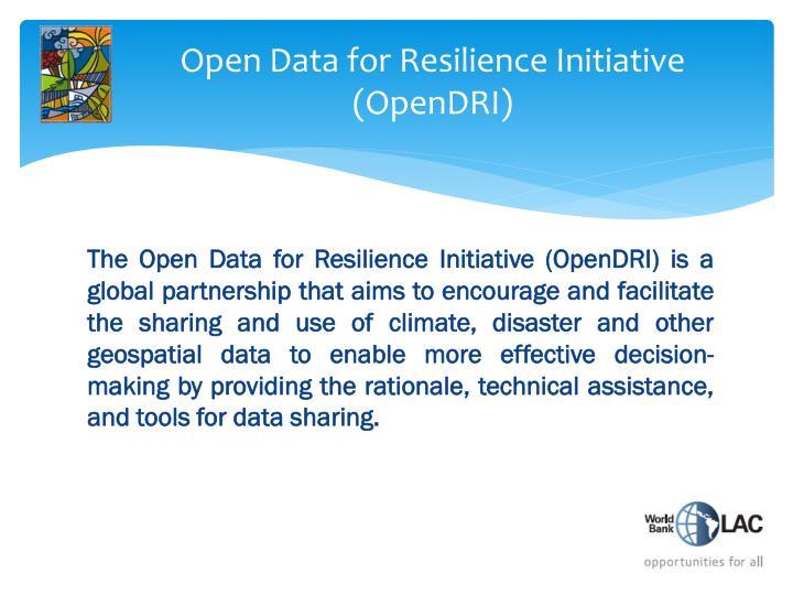 Open data for resilience initiative opendri