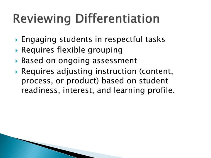 Reviewing Differentiation