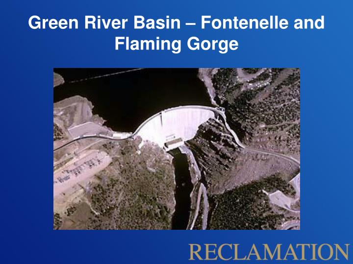 Green river basin fontenelle and flaming gorge