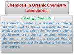 chemicals in organic chemistry laboratories