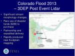 colorado flood 2013 3dep post event lidar