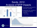 sandy 2012 analysis of nfip impacts
