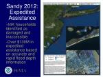 sandy 2012 expedited assistance