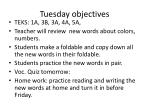 tuesday objectives