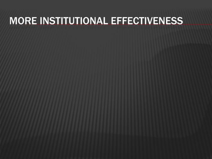 More Institutional
