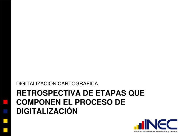 Retrospectiva de etapas que componen el proceso de digitalizaci n