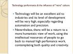technology performance the influence of retro culture