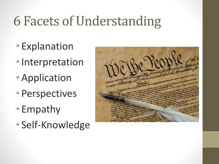 6 Facets of Understanding