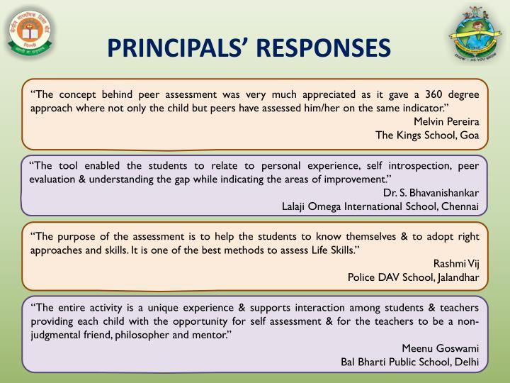 PRINCIPALS' RESPONSES