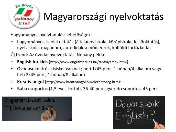 Magyarországi nyelvoktatás