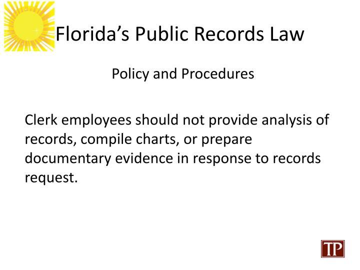Florida's Public Records Law