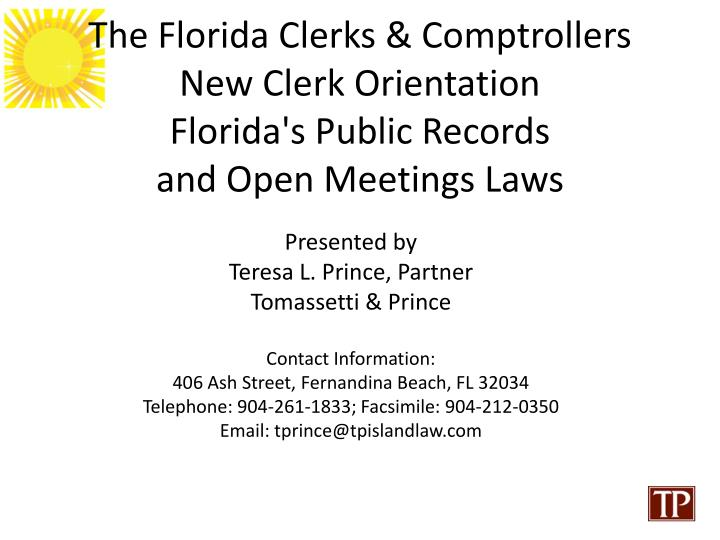 The Florida Clerks & Comptrollers