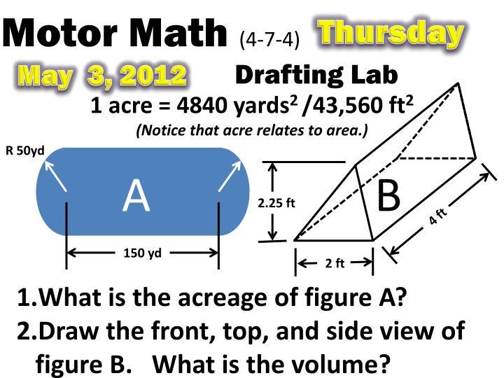 Motor Math