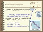 interpreting regression equation